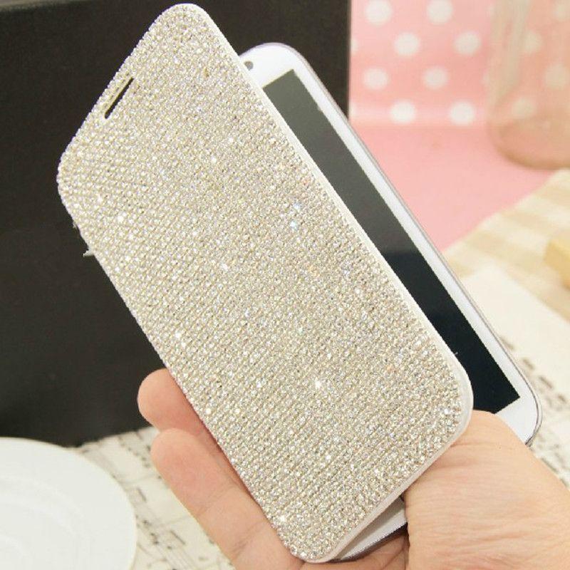 Luxe Bling Diamant Porte-Monnaie Flip Étui En Cuir Pour iPhone X 8 7 6 S Plus 5S Samsung Galaxy S8 S7 s6 Bord Plus Note 5 4 3