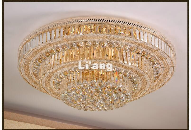 New Modern LED K9 Crystal Ceiling Lights For Living Room luminaria teto cristal Ceiling Lamps For Home Decoration Free shipping