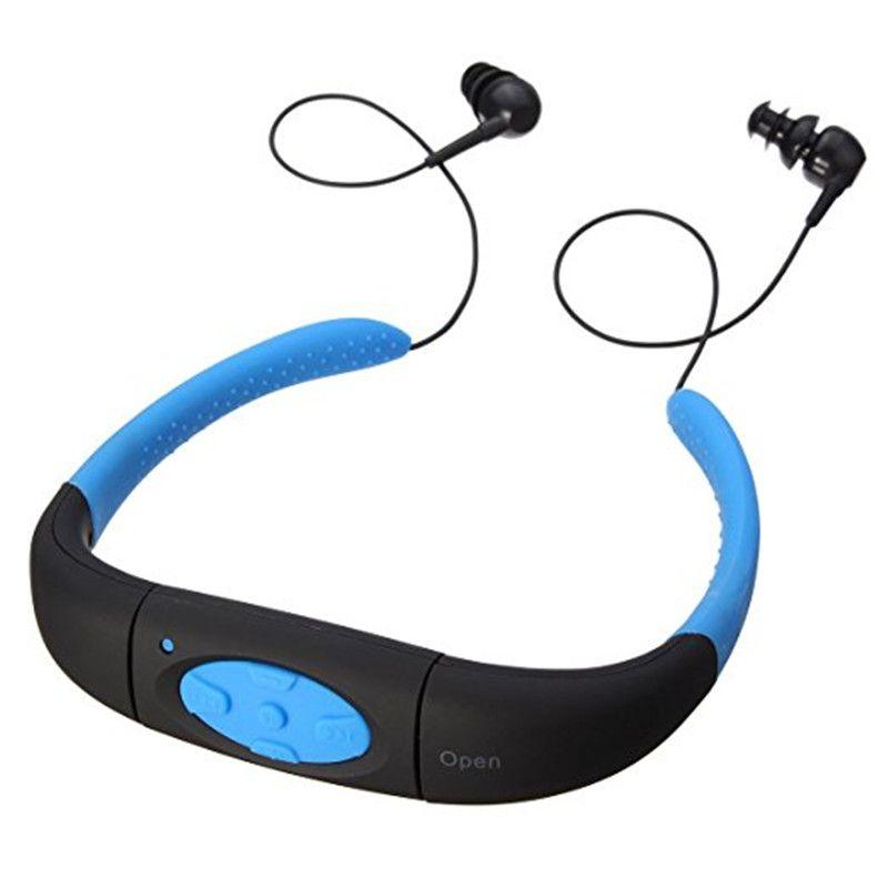 Ihens5 IPX8 étanche 8 GB Sport sous-marin MP3 lecteur de musique tour de cou stéréo casque Audio casque avec FM pour la plongée natation