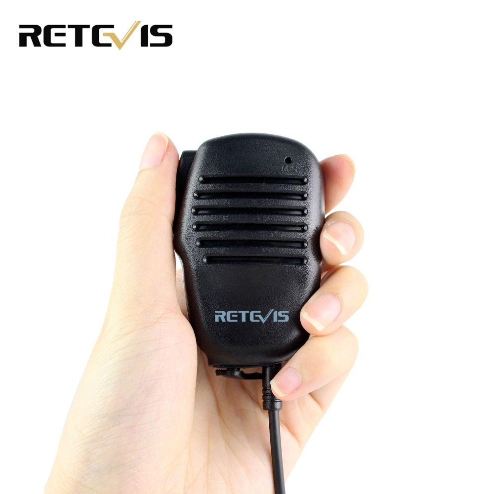 Retevis 2 Pin Mini PTT Speaker MIC Walkie Talkie Accessories For Baofeng UV5R 888S For Kenwood For TYT Two Way Radio C9021A