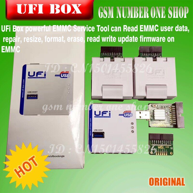 2018new original UFI Box power ufi Box ufi tool box ful EMMC Service Tool Read EMMC user data, as well as repair, resize, format