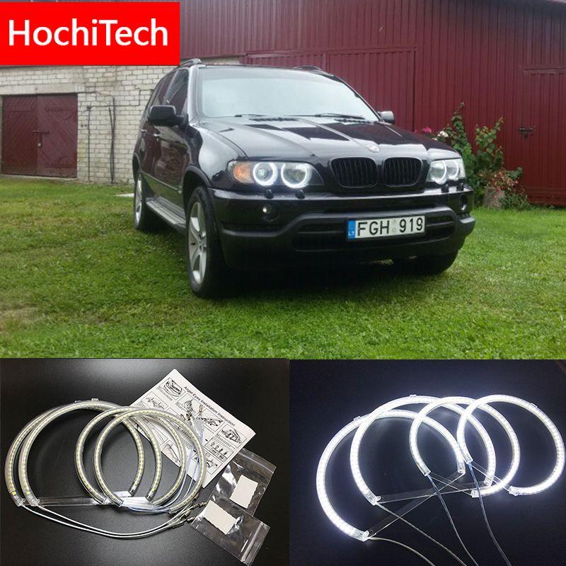HochiTech für Bmw E53 X5 1999-2004 Ultra helle SMD weiß LED engel augen 2600LM 12 v halo ring kit tagfahrlicht DRL