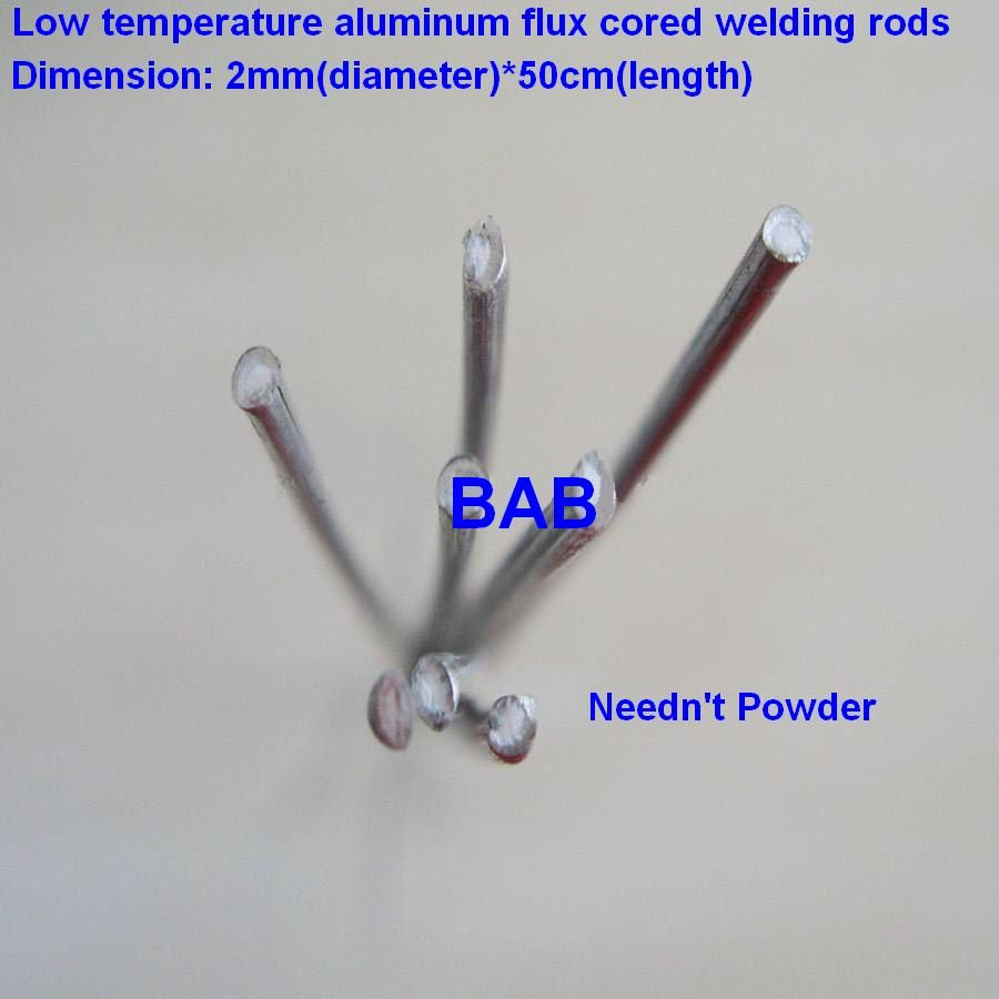 50 PCS 2mm*50cm low temperature aluminum welding rod flux cored wire / low temperature flux core aluminum electrode (no flux)