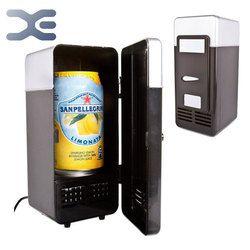 Mini USB de escritorio refrigerador personal refrigerador portátil (negro) mini USB escritorio envío gratis