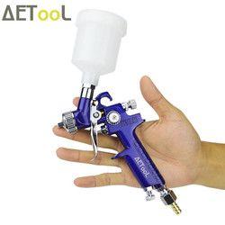 Aetool 0.8 Mm/1.0 Mm Nozzle H-2000 Profesional Pistol Semprot Hvlp Udara Mini Senjata Cat Semprot Airbrush untuk Lukisan mobil Aerograph