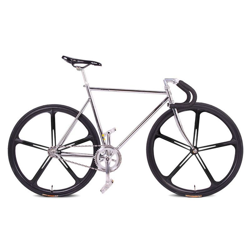 fixie Bicycle Fixed gear bike 700C *23C 52cm FRAME vintage Promotion Diy Complete Road Bike, student Bicycle green frameType