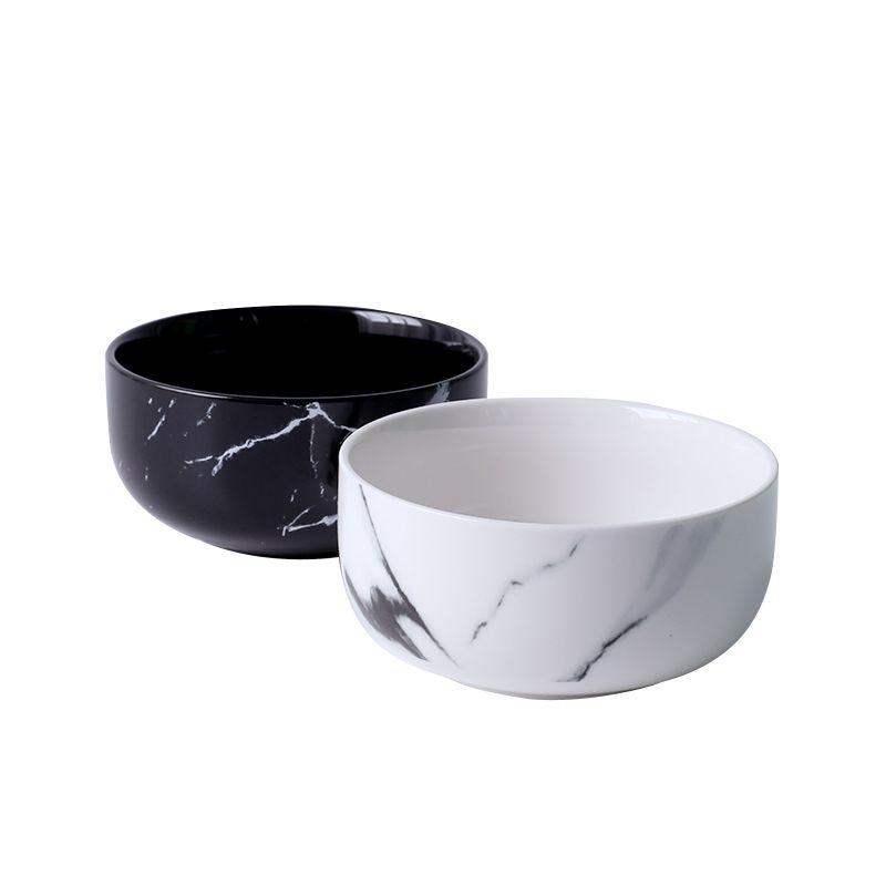 14 унций творческая Дизайн Мрамор зерна Керамика риса Чаши фарфор лапши Крупы миска Столовая Посуда украшения дома Посуда