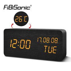 Fibisonic Jam Alarm LED Digital Elektronik Jam Meja Desktop Tampilan Temperature Alarm Jam YY-MM-DD