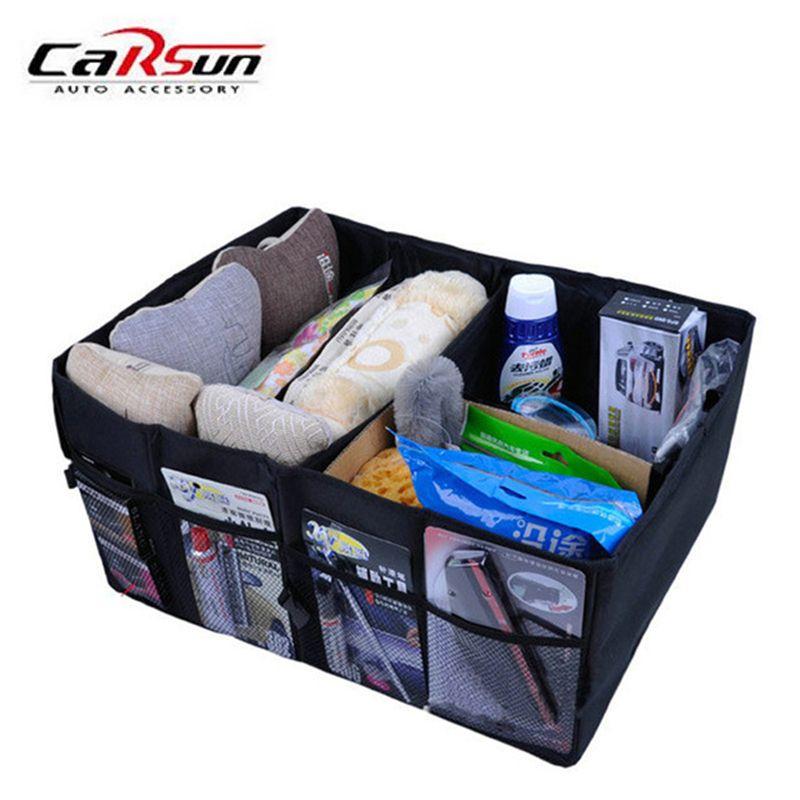 600D Large Capacity Oxford Waterproof Fabric Car Storage Organizer Portable Auto Folding Multi-use Toolbox Organizer JH-820