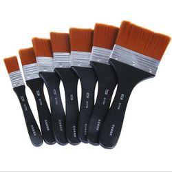 Paint Paint Brush Long Flat Head Cleaning Brush Gouache Acrylic Painting Brush Oil Brush Painting Wall Art Supplies