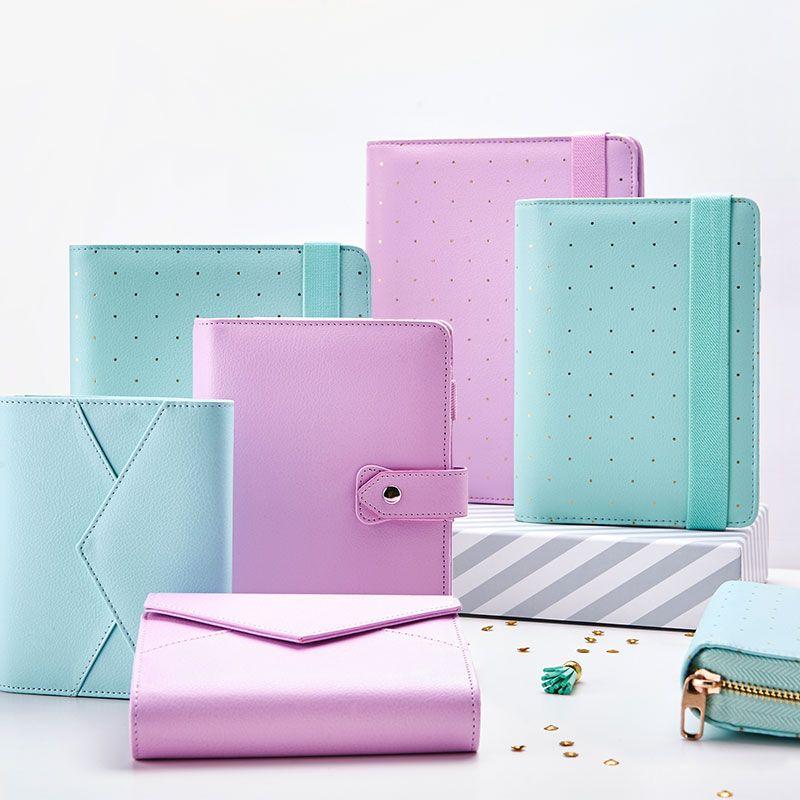 New Dokibook Notebook Mint A5 A6 Spiral Time Planner Cute Creative Zipper Case Book Diary Agenda <font><b>Organizer</b></font>