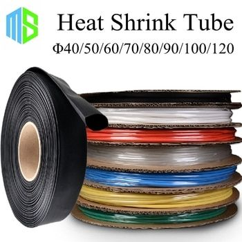 40/50/60/70/80/90/100/120mm Assorties Thermorétractable Tube 7 Couleurs 8 Tailles Tube Wire Wrap Isolation Manches Gaine Thermorétractable Câble Kit