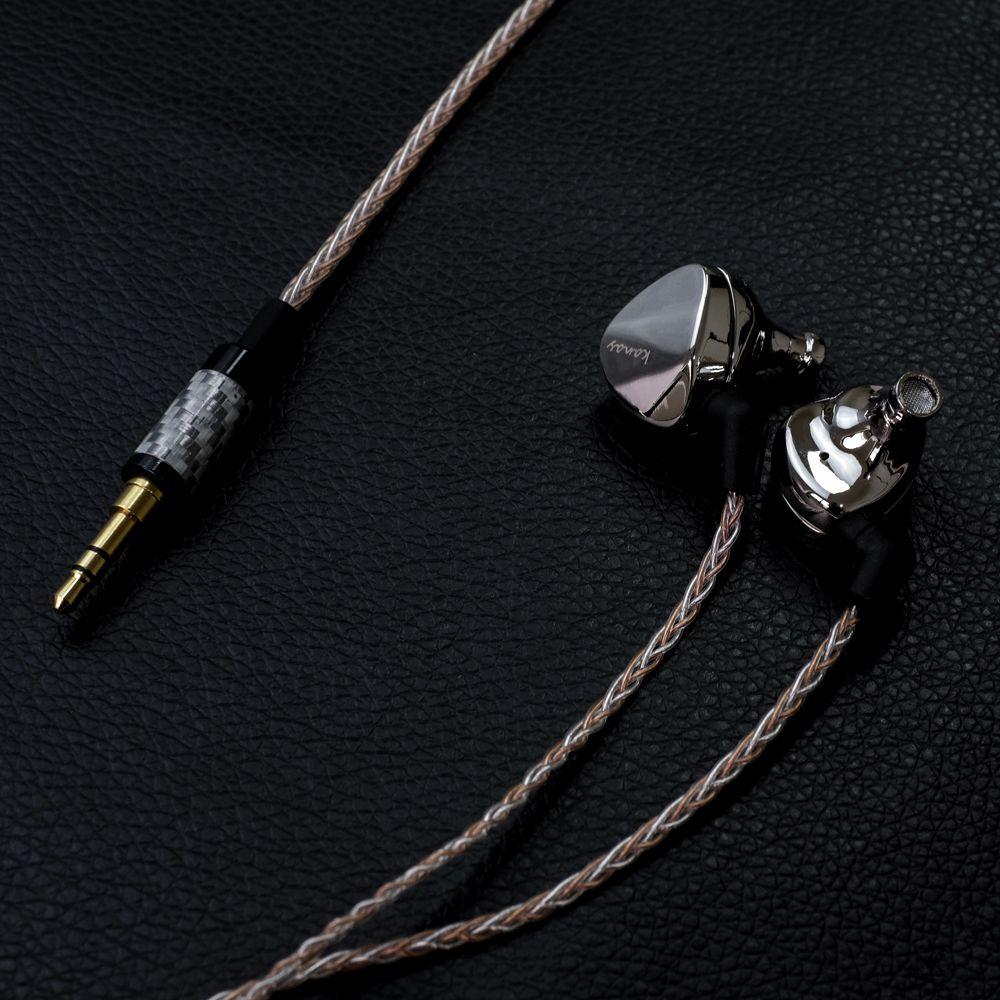 Newest Fashion Moondrop Kanas Pro Diamond Zinc Magnesium Alloy Dynamic HIFI In Ear Earphone HIFI Monitor Earphones EarplugEarbud