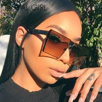 ROYAL GIRL 2019 New Color Women Sunglasses Unique Oversize Shield UV400 Gradient Vintage eyeglasses frames for Women #ss953