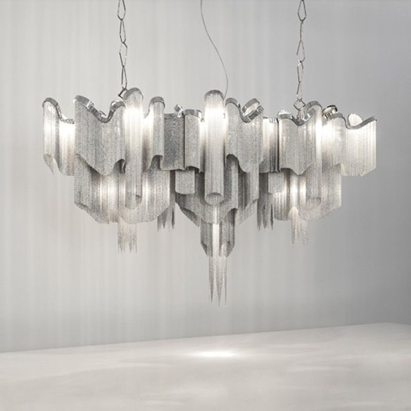 Atlantis Suspension Light Stream Pendant Light Long Shape By Barlas Baylar from Terzani Ceiling Lamp Lighting Fixture