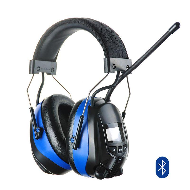 Bluetooth Hören Protector AM FM Radio Ohrenschützer Elektronische Rauschunterdrückung Gehörschutz Schießen Mähen Gehörschutz Kopfhörer