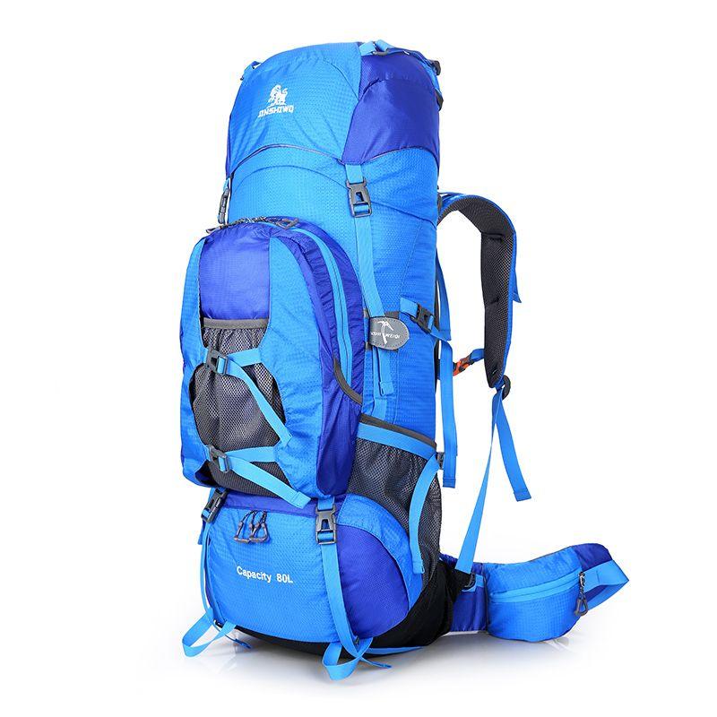 80L Große Outdoor-Rucksack Klettern Rucksäcke Wandern Big Kapazität Rucksäcke Sporttasche Reisetasche Berg Männer Wasserdichte Taschen