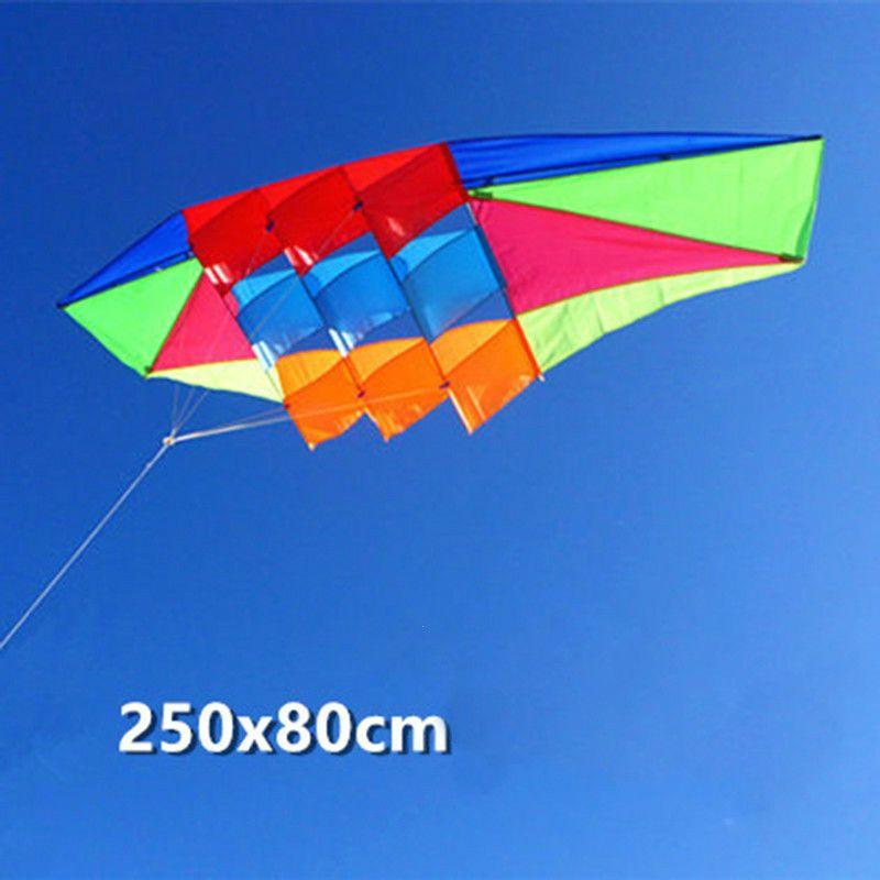 Jouets d'extérieur cerfs-volants pour adultes et enfants pur manuel 2.5 mètres de puissance cerf-volant coloré tissu Radar cerf-volant bon cerfs-volants volants