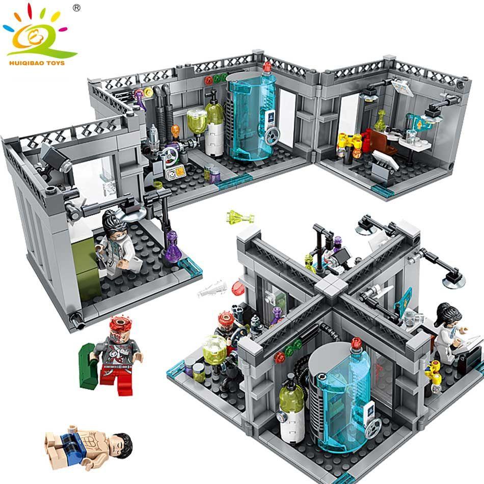 <font><b>City</b></font> Police Biochemical Lab Series Building Blocks Compatible Legoed technic classic Figures Enlighten bricks toys for Children