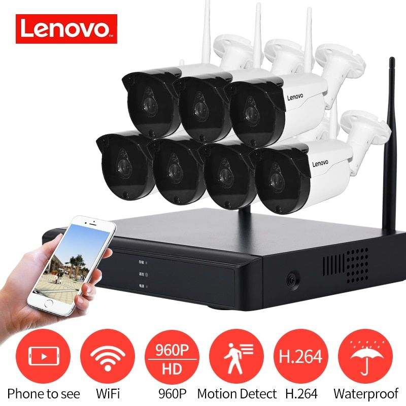 LENOVO 7CH Array HD Wireless Security Camera System DVR Kit 960 p WiFi kamera Im Freien HD NVR nachtsicht Überwachung kamera