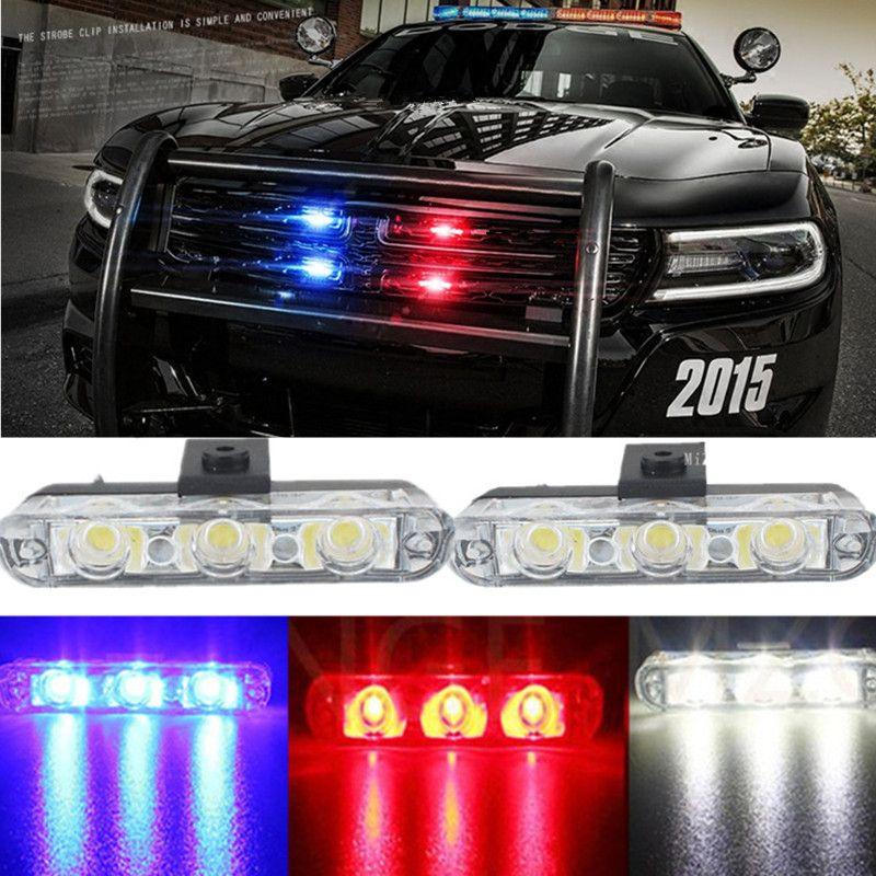 MZORANGE Best Quality 2x3/ 6Led Ambulance Police light DC 12V Car Light Flashing Firemen Lights Strobe Warning light Car-Styling