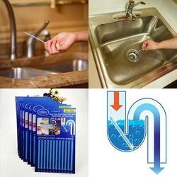 12 Buah/Set Tongkat Sewage Dekontaminasi untuk Deodoran Dapur Toilet Bathtub Drain Cleaner Selokan Cleaning