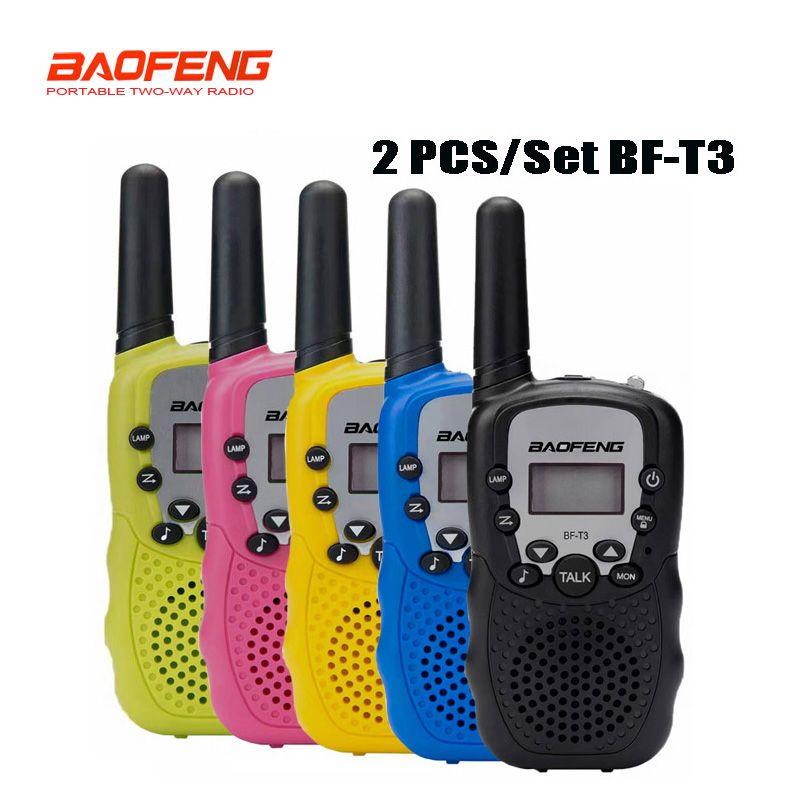 2 pcs / set Baofeng BF-T3 Portable mini walkie talkie for kids gift radio 0.5W 22CH Two-Way Radio Interphone Transceiver