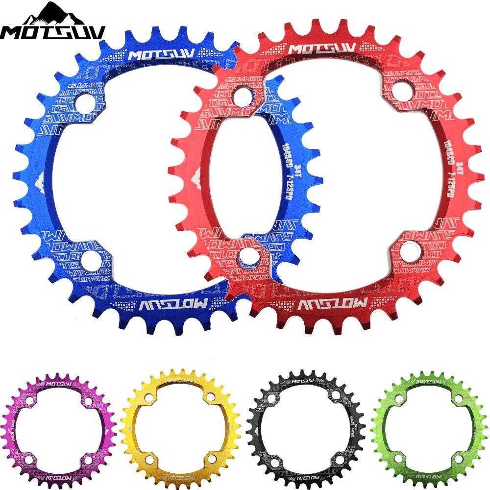 Fahrrad Kurbel 104BCD Runde Form Engen Breite 32 T/34 T/36 T/38 T MTB Kette ring Fahrrad Chainwheel Bike Kreis Kurbelgarnitur Einzigen Platte