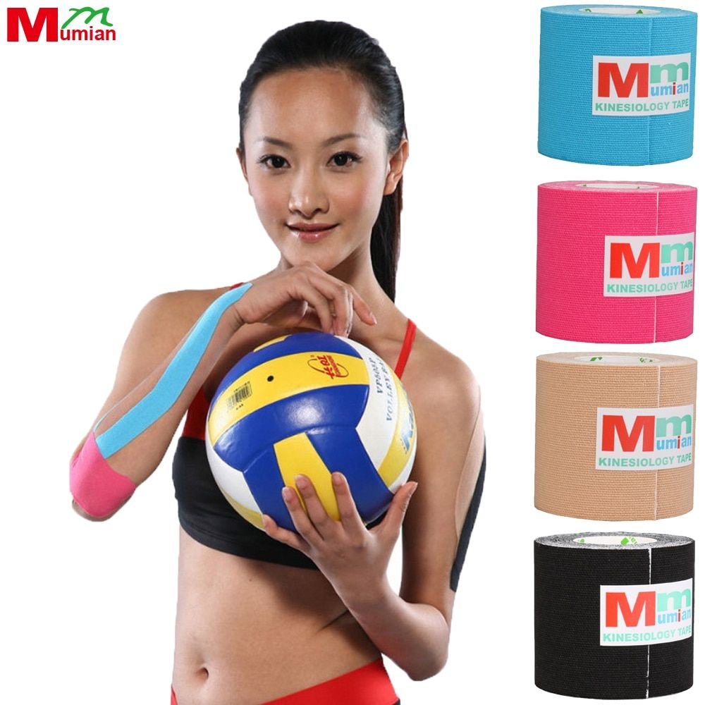 5cm*5m Kinesio Tape Kinesiology Tape Cotton Elastic Adhesive Muscle Tape Sports Tape Roll <font><b>Care</b></font> Knee Bandage Support with No Case