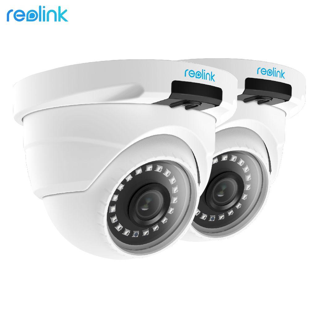 Reolink PoE IP Camera HD 4MP Outdoor Indoor Weatherproof Dome 1440P Home Video Surveillance IR Cam RLC-420-2 (2 pack)