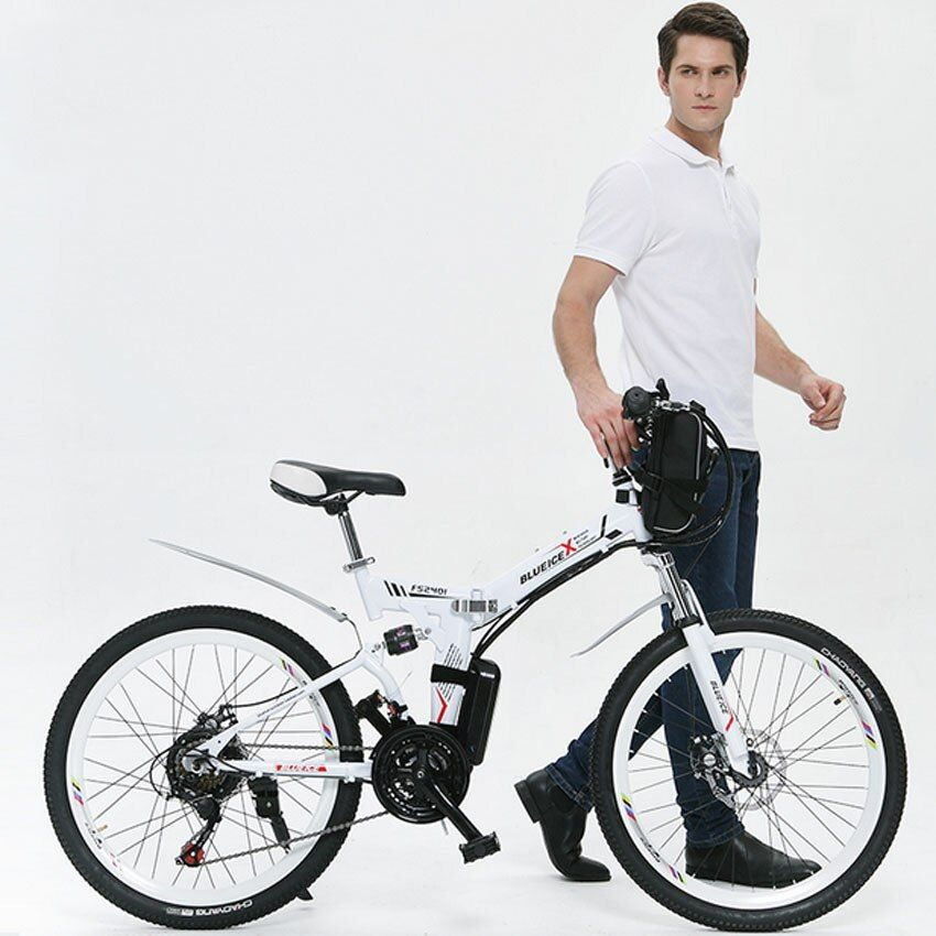 2016 Real Top Fasion 31 - 60 Km Alloy 26inch 251 - 350w 48v 26 Inch Folding Electric Bicycle with 48v Lithium battery