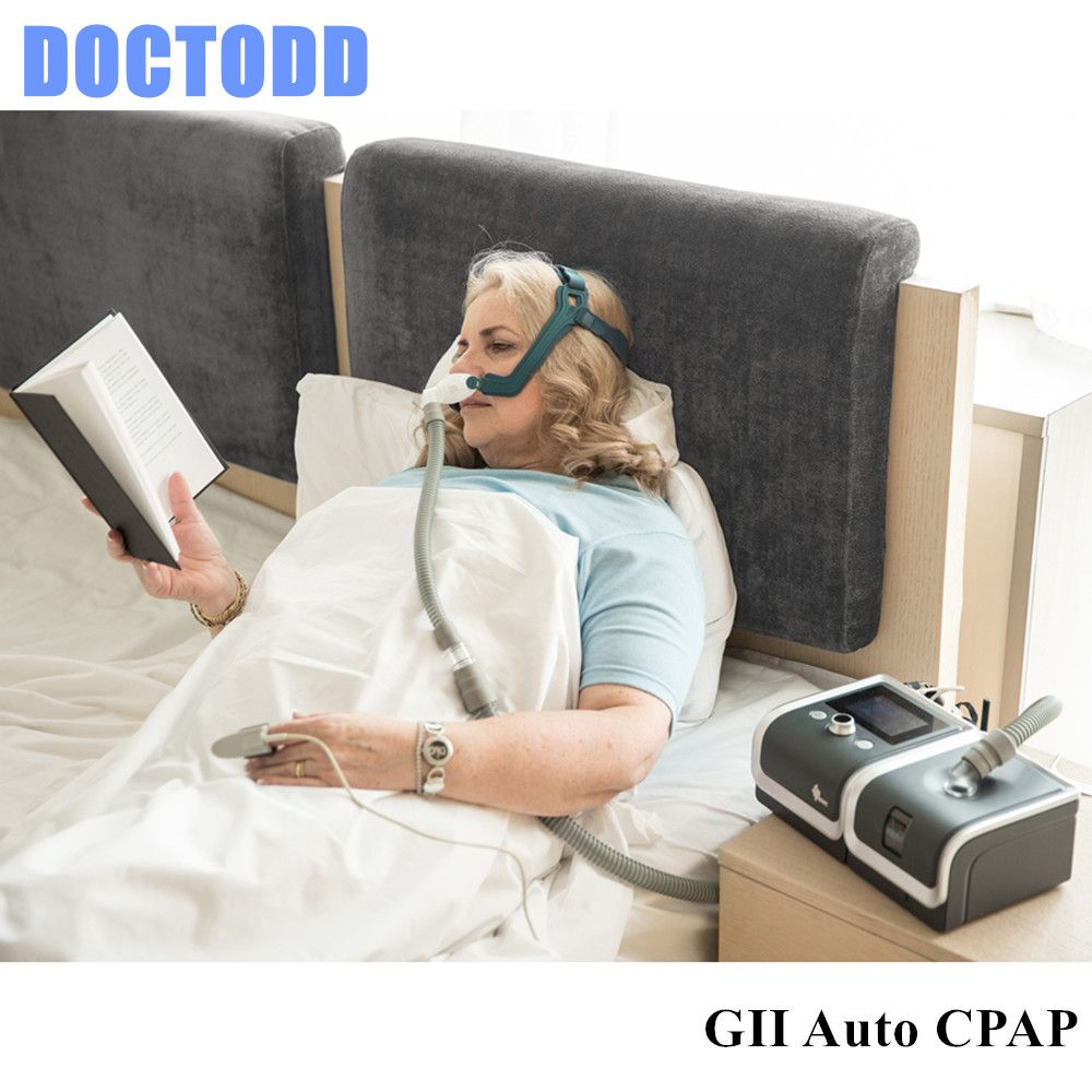 DOCTODD GII Auto CPAP Sleeping Machine E-20AH-O Portable Ventilator For Sleep Snoring Apnea W/ Humidifier Mask Hose SD Card Bag