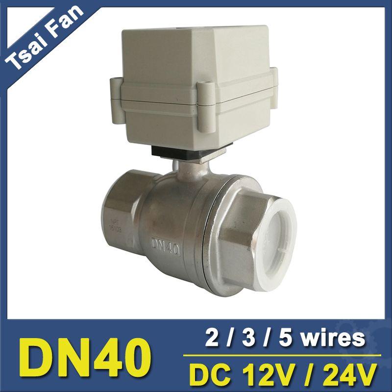 DC12V/24 V Edelstahl 304 1-1/2 ''DN40 Volle Port Betätigte Ventil 2 getriebe IP67 Für Wasser Anwendung