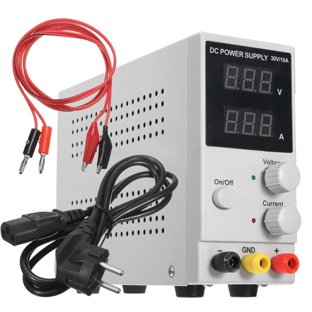 1Set 30V 10A Adjustable Switching Regulated Mayitr DC Power Supply LCD Dual Digital Display