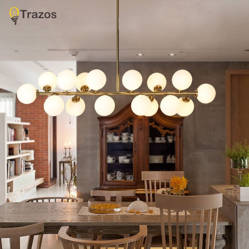 Nordic simple living room restaurant elements chandelier post-modern art bedroom creative clothing store magic beans glass chand