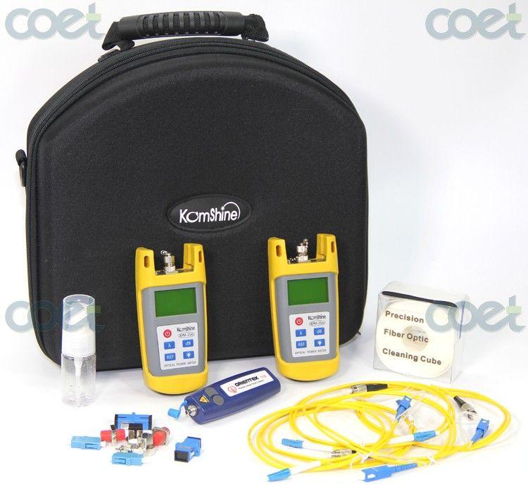 Free Shipping Basic Fibre optique Loss Testing Instrument Komshine KLT-25M Optischer Leistungsmesser / Optische Lichtquelle /VFL