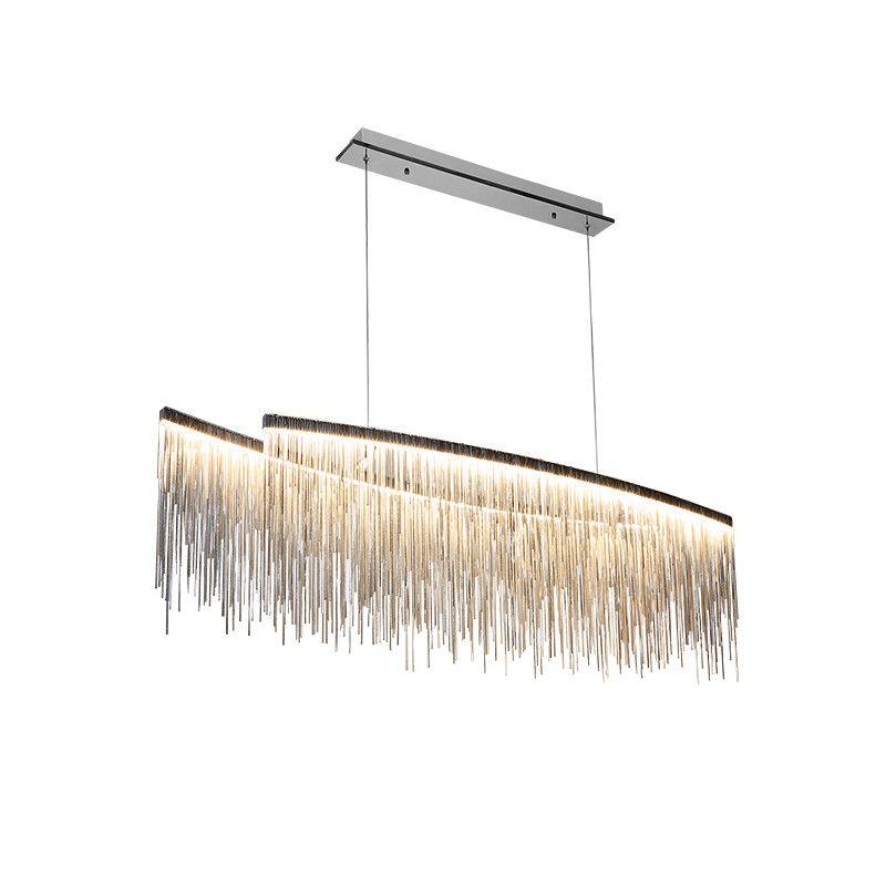 Wongshi Moderne Drei Farbe Quaste Aluminium Kette Anhänger Lichter Nordic wohnzimmer leuchtet Villa Kreative Restaurant Shop Lampen
