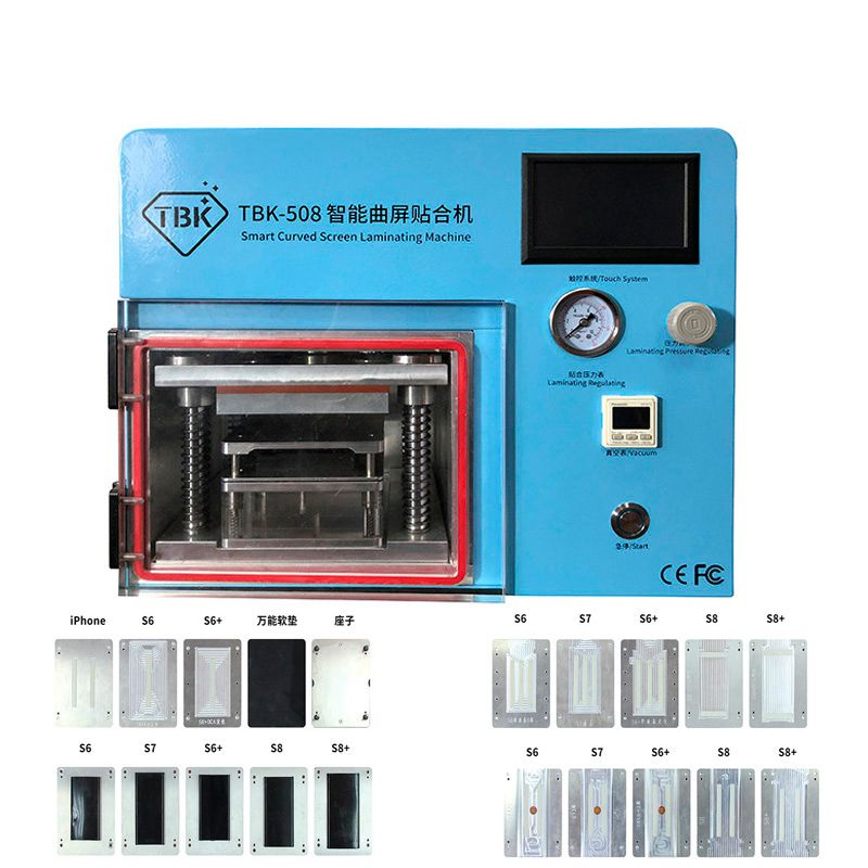 5 IN 1 TBK-508 Vakuum Laminieren Maschine für Sumsung S6 S6 + S7 S8 S8 + Rand Gebogene Telefon LCD OCA Reparatur