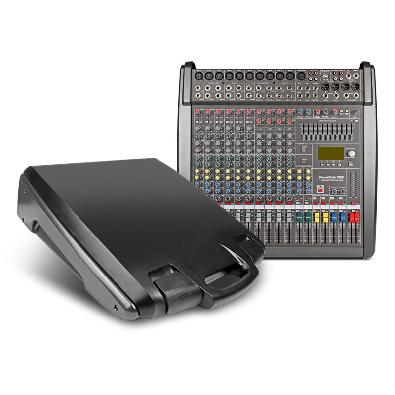 Power mate 1000-3 Professional audio Mixer console Music bar Top quality 48 volt phantom power 1000 watts * 2 power amplifier