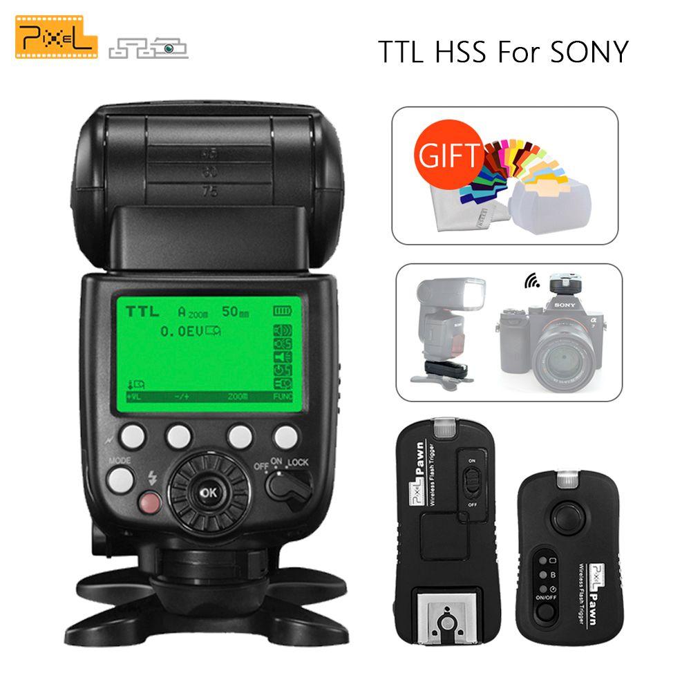 Pixel X800S X800 Standard TTL HSS GN60 Flash pour Sony A7 A7R RX1 A6000 & TF-365 déclencheur Flash sans fil Yongnuo YN600EX
