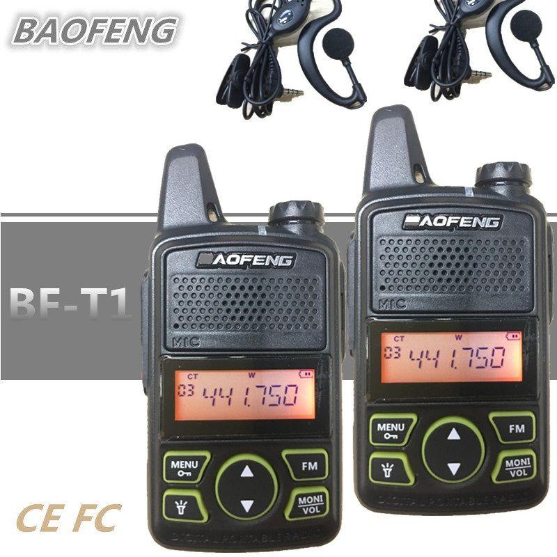 2 pcs BAOFENG BF-T1 Enfants Radio MINI Walkie Talkie UHF Portable Jambon CB Radio BAOFENG T1 Émetteur-Récepteur Interphone USB Chargeur bf t1