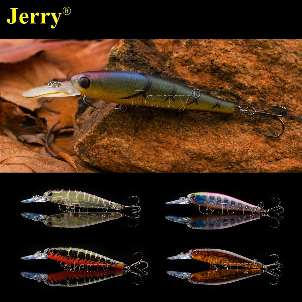 Jerry Japan minnow jerkbait 6.5cm/2.6in 6g high quality BKK hook slow sinking high quality fishing hard lure bait plugs