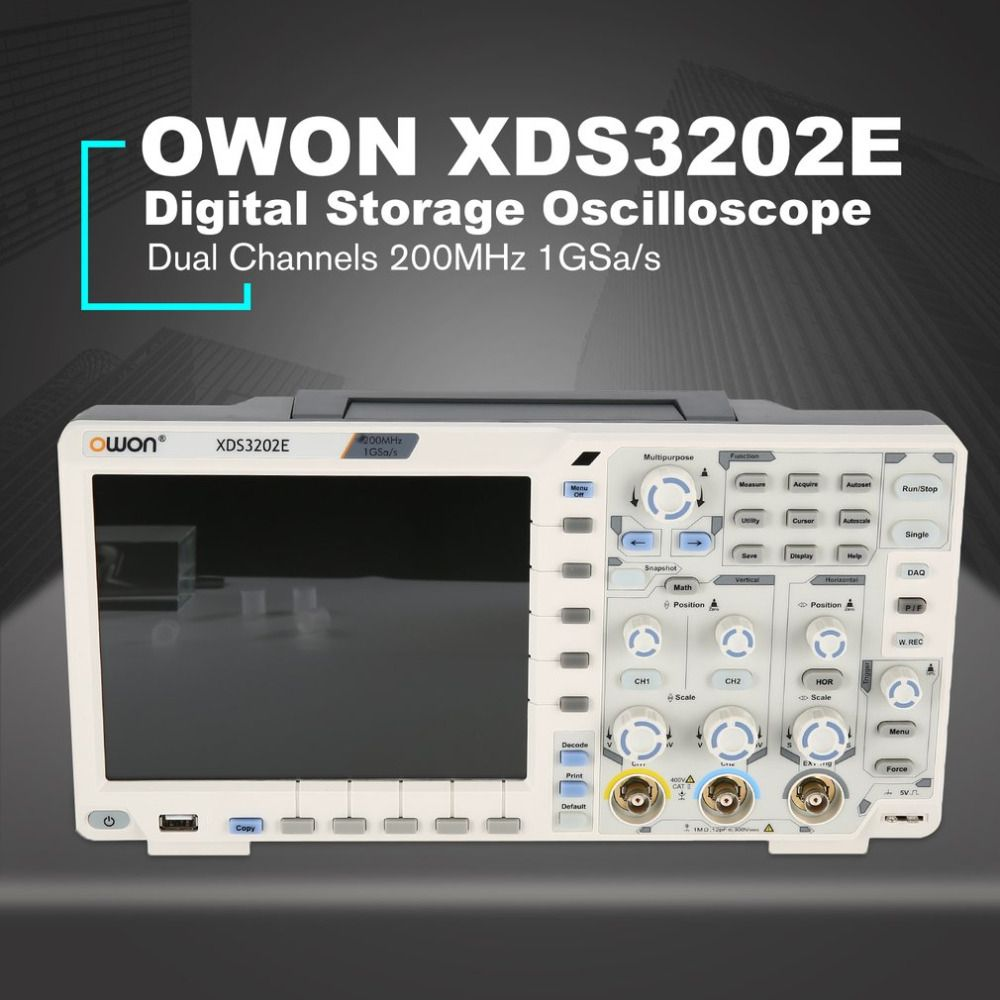 OWON XDS3202E Dual Kanal Tiefe Speicher LCD Display Digital Speicher Oszilloskop Scopemeter Scope Meter 200 mhz 1GSa/s