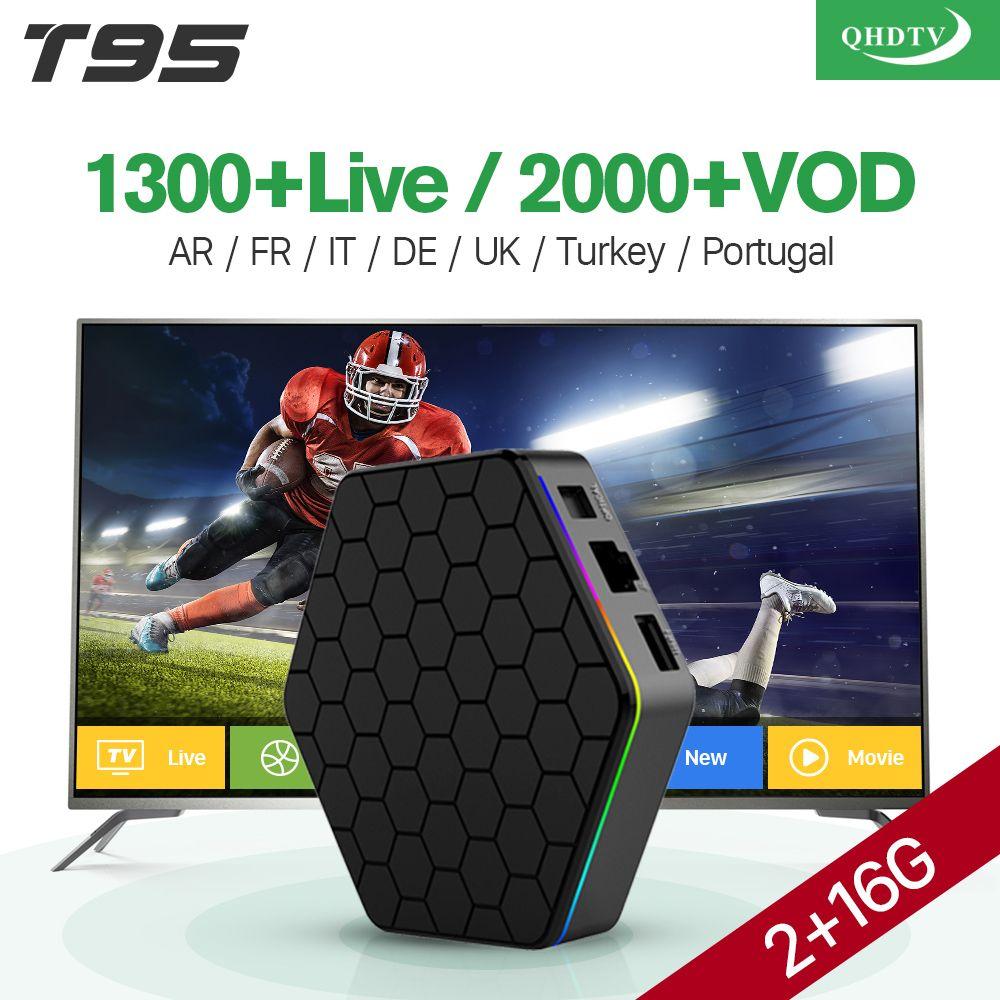 T95ZPlus IPTV Français Boîte Android 7.1 avec Arabe IPTV Abonnement QHDTV IPTV Belgique Pays-Bas France Arabe Sport VOD Films