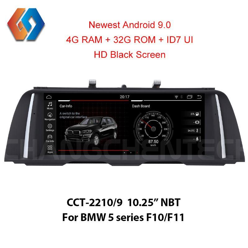 4G Ram Android 9.0 Multimedia Auto Radio für BMW 5 Series F10 F11 NBT 1920x720 HD Schwarz Touch bildschirm Eingebaute CarPlay WiFi BT GPS
