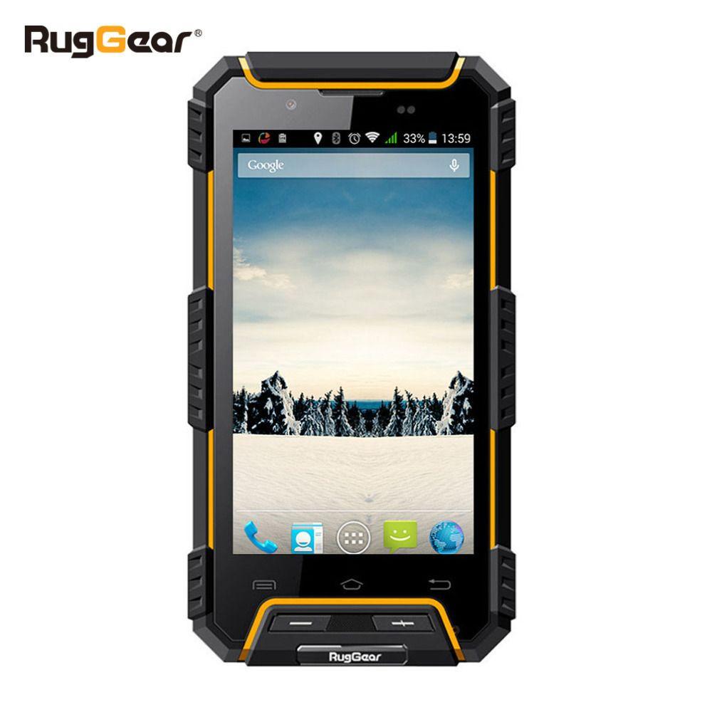IP68 A Prueba de agua Teléfono RugGear RG702 RugGear Ápice GPS de Doble SIM Androide a prueba de agua a prueba de polvo inteligente Desbloqueado teléfono celular de Color Amarillo