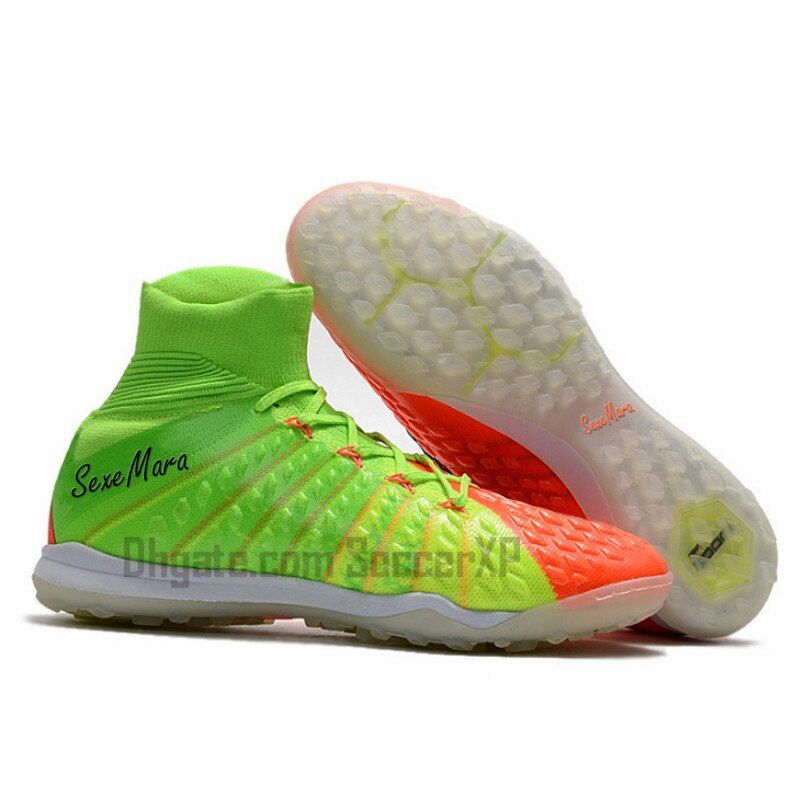 Indoor soccer shoes mens TF Turf  soccer cleats boys high ankle football boots professional sapatos de futebol homens size 39-46