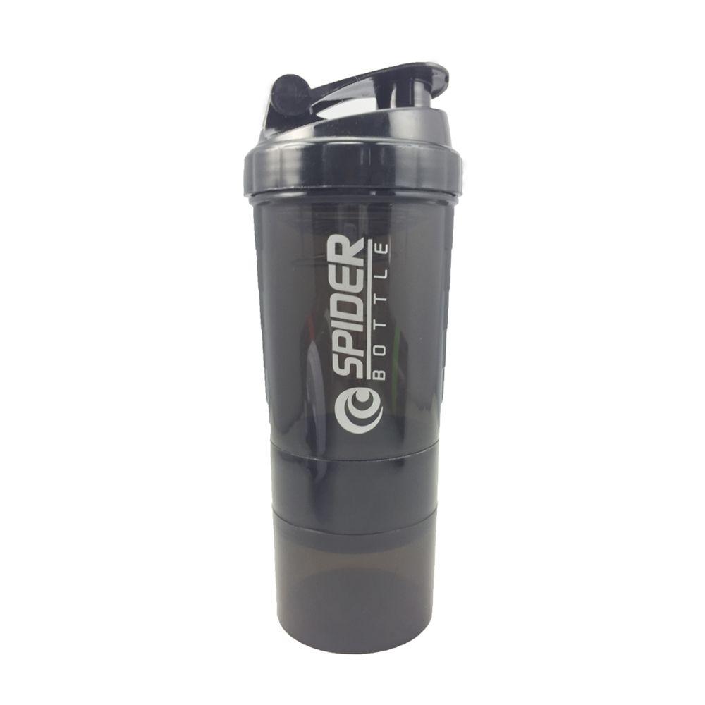 Nouvelle bouteille de mélange de protéines de lactosérum bouteille de mélange de protéines de sport Nutrition bouteille d'eau de Fitness avec trois couches
