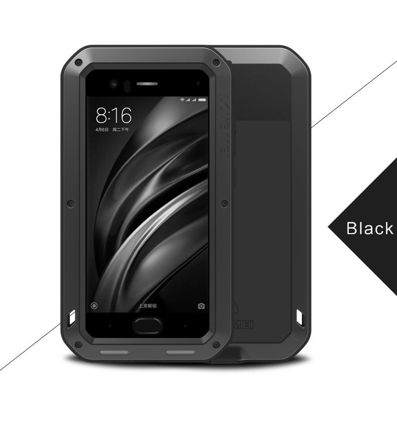 Aluminum Waterproof Case for Xiaomi Mi 6 Original Cover For Xiaomi Mi 6 Case Luxury Brand Shockproof Protection For Mi6 Case
