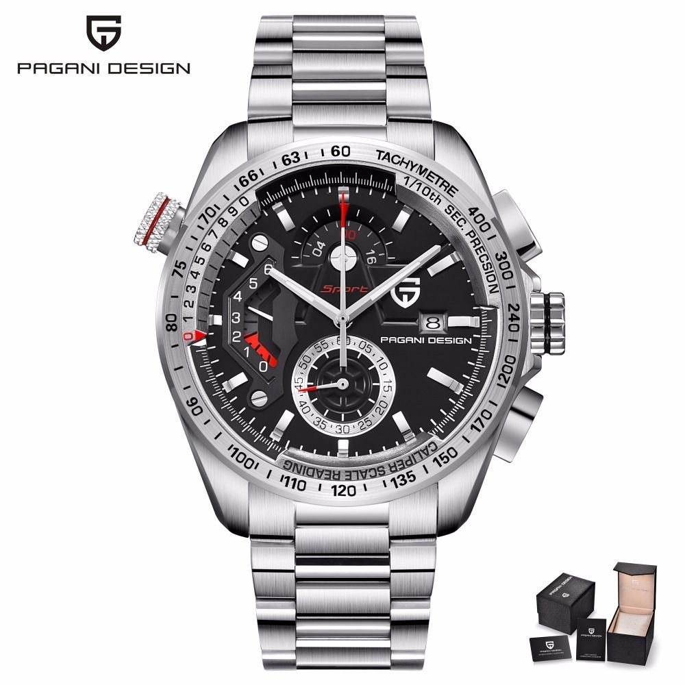 PAGANI DESIGN Mens Watches Top Brand Luxury Male Waterproof Sport Chronograph Military Wrist Watch Men Clock relogio masculino